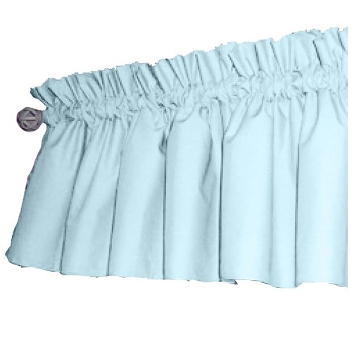 bkb Solid Color Window Valance, Light Blue by bkb