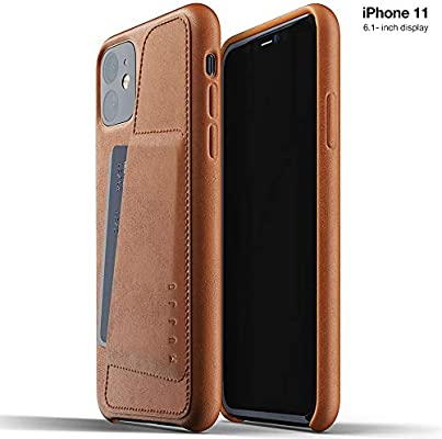 Black 2-3 Card Holder Pocket Unique Natural Aging Effect Mujjo Full Leather Wallet Case for Apple iPhone 11 Pro Premium Soft Supple Leather