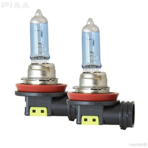 PIAA 23-10111 H11 Xtreme White Hybrid Bulb, 3900K-12V 55W-Twin, 2 Pack ()