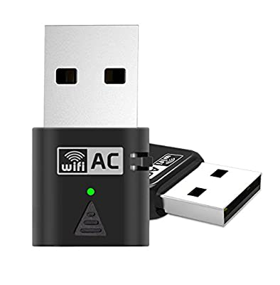 USB Network Adapter, Amotus AC600 Dual Band Wireless Adapter 600Mbps 802.11ac Nano Wifi Dongle for Device of Windows XP/ Vista/ 7/ 8/ 8.1/ 10(32/64bits)/ Linux/ MAC OS X 10.7-10.11; Wi-Fi Receiver