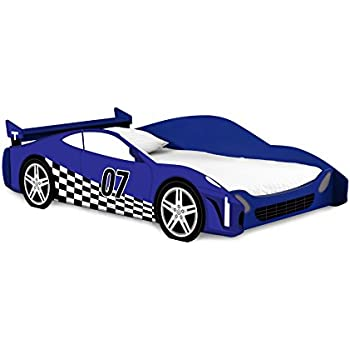 legar kids furniture race car series collection no tools assembly twin bed blue and white