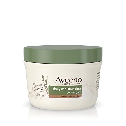 Aveeno Active Naturals Daily Moisturizing Body Yogurt Moisturizer, Vanilla And Oats, 7oz, (Pack of 3)
