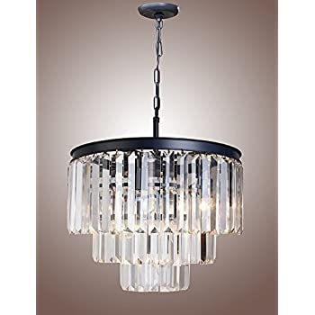 21 Inch  Crystal Pendant L& Ceiling Light Fixture Odeon Crystal Glass Fringe 3-  sc 1 st  Amazon.com & 21 Inch Crystal Pendant Lamp Ceiling Light Fixture Odeon Crystal ...