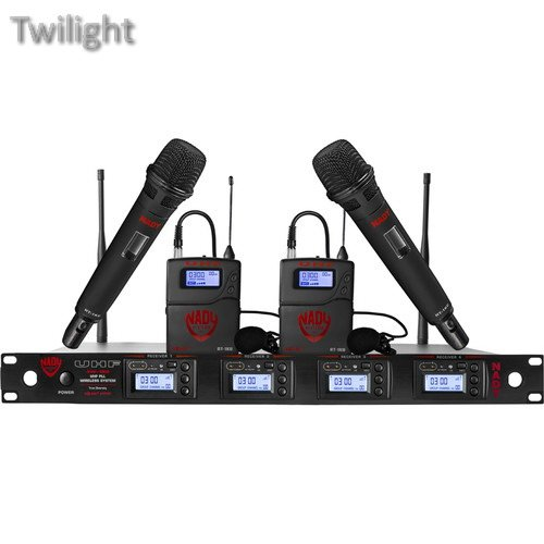 Nady UHF Wireless System with Two Handheld & Two Lavalier Microphones, Two Bodypacks, and Receiver ()