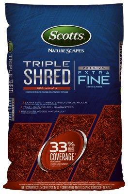 Scotts Organic Mulch - Scotts Organic Group 88459410 1.5 cu. Ft. Triple Shred Color Enhanced Mulch, Red