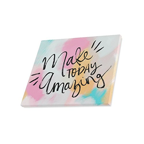 InterestPrint Inspirational Quotes Make Today Amazing Canvas Wall Art Print Painting Wall Hanging Artwork for Home Decoration 20 X 16 Inches