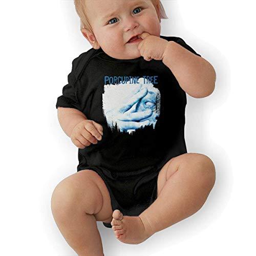 sretinez Baby's Porcupine Tree in Absentia Romper Bodysuit Outfits Black -