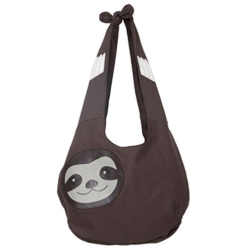 Sleepyville Critters Hang Loose Sloth Hobo Bag On Canvas by WonderMolly (Image #4)