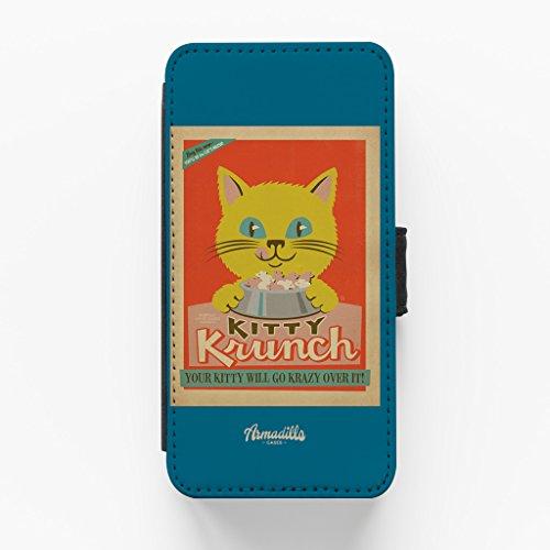 Kitty Krunch Hochwertige PU-Lederimitat Hülle, Schutzhülle Hardcover Flip Case für iPhone 6 / 6s vom Anderson Design Group + wird mit KOSTENLOSER klarer Displayschutzfolie geliefert