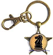 Chess Keychain Symbol Key Ring Antique Jewelry,Chess Piece Jewelry,Chess Player Gift,Chess Keychain,Queen Jewe
