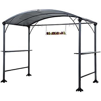 High Quality This Item Abba Patio 9u0027 X 5u0027 Outdoor Backyard BBQ Grill Gazebo With Steel  Canopy, Gray