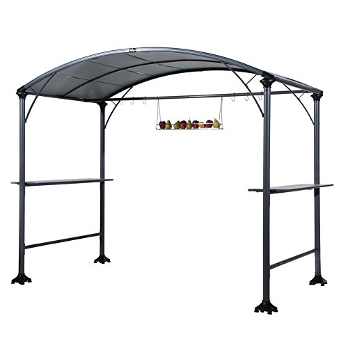 Abba Patio 9' x 5' Outdoor Backyard BBQ Grill Gazebo with Steel Canopy, - Sauce Trends Bbq