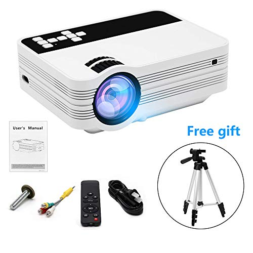 CINOTON Mini Projector with One Free Lightweight Tripod, HDMI, 1080P 120