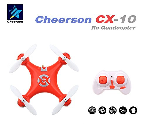 Seresroad CX-10 4CH 2.4GHz 6 Axis Gyro LED Rechargeable Mini Nano RC UFO Quadcopter - ()