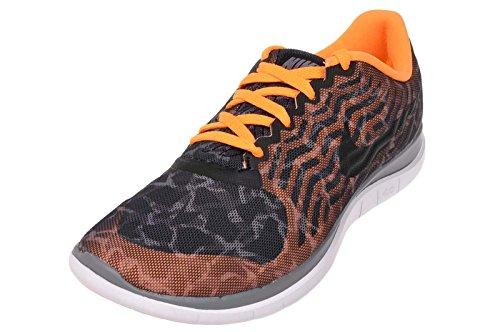 Wmns Mujer Nike Libre 4.0 De Impresión, Negro / Negro-gris-fresco Brillante Citrus Negro / Negro-gris-fresco De Cítricos Brillante