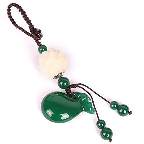 FYERBU High-Grade Agate Money-Gathering Bag Key Ring Chalcedony Bag Creative Key Hanging Lovely Bag for Men and Women Hanging Decoration