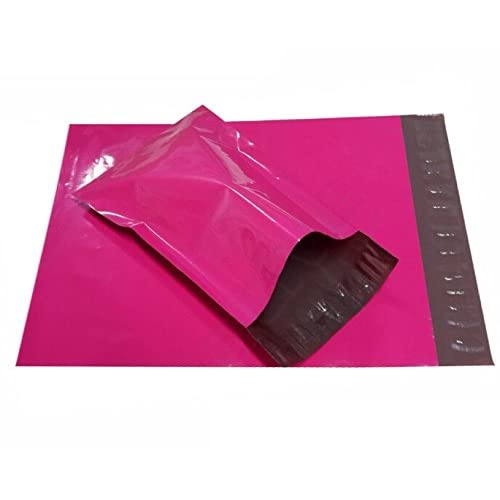 100 Pack #3 9x12 Hot Pink Poly Mailers Shipping Envelopes Plastic Mailing Bags 2.5 Mil Self-Seal, Tear-Proof by Proosh (Hot Pink) supplier