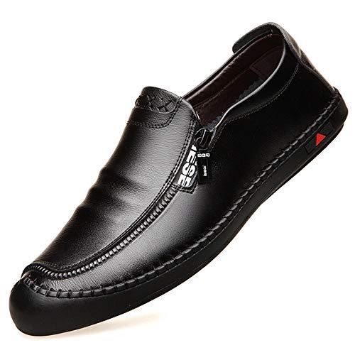 Punta Informales Derby Informales para Hombres con Redonda con Negocios de Zapatillas Negro Zapatillas Cordones Negra Punta en Azul 6wd7q6B
