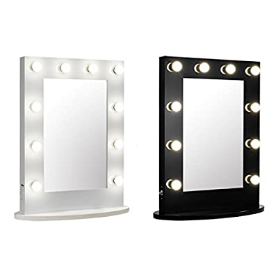 Vanity Mirror with Light Hollywood Makeup Mirror Wall Mounted Lighted Mirror + Free LED Bulbs