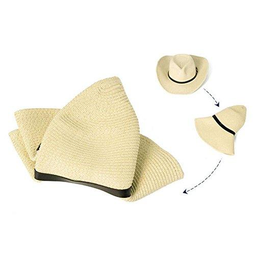 Sombrero Bambino De Sombreros Exterior para Big Qiyun Montaña Ultravioleta Bambino Agli Paja Caffè eave Resistentes Selva Hombres Cowboy de Playa de Sombrero caffè capretti Parasol Senderismo Escalada wqwXUTg