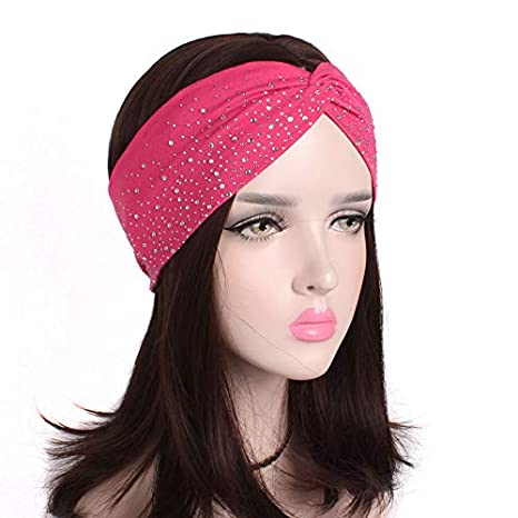 Skudgear Women s Soft Cotton Elastic Twisted Knot Turban Headband ... 7c8904ecd5c