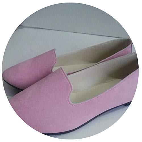 Hju Shoes Women Solid Candy Color Patent PU tip Shoes Women Flats Ballet Casualshoes Princess Shoes