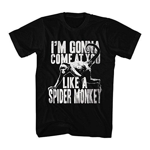 Talladega Nights Men's Talladega Nights Spider Monkey Graphic T-Shirt, Black, Small