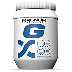 Magnum Nutraceuticals L Glutamine 100 Servings Immune System Support Systematic Assimilation Build & Repair Lean Muscle Improve Blood Flow