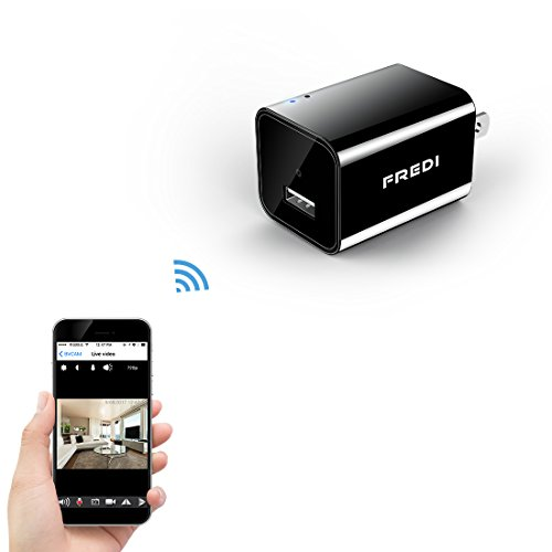 1080p HD mini wifi camera spy camera wireless camera for iPhone/Android Phone/iPad Remote View with Motion Detection(support 128G SD card) (FREDI-PP2) ()