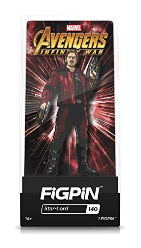 FiGPiN Avengers Infinity War : Star-Lord - Collectible Pin with Premium Display Case - Not Machine Specific