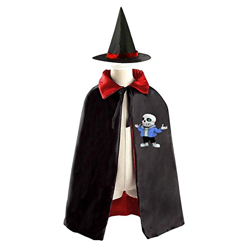 Halloween Wizard Mantle Label Reversible Costumes Suit Print With (3D/Sans) Logo For Kids Spoof In Role-Playing (Red) (Diablo 3 Wizard Costume)