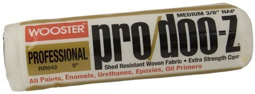 """12 Pack Wooster RR642-9 Pro/Doo-Z 9"""" Shed Resistant Professional Roller Cover with 3/8"""" Nap"""