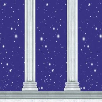 Column Backdrop Party Accessory (1 count) - Drop Greek