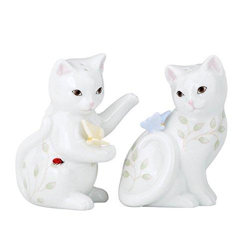 (Butterfly Meadow Kitten Salt & Pepper Shaker Set by Lenox , Made of Porcelain)