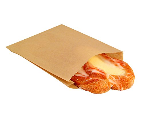 Plain Natural Kraft Paper Sandwich Snack Bags 6 x 3/4 x 6-1/2 (100)