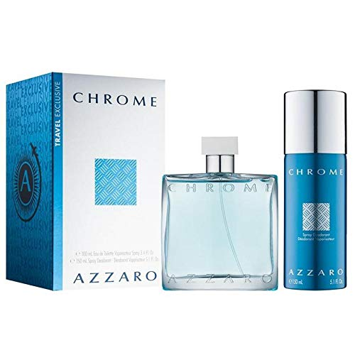 Azzārŏ Chrŏmė 2 Piece Gift Set for Men 3.4 fl.Oz Eau De Toilette Spray + 5.1 fl.Oz Spray Deodorant
