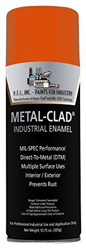 Metal-Clad Gloss Safety Orange Industrial Enamel Aerosol - 10.75 oz, (Case of 12)