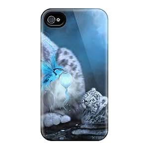 High Quality KMCklfh2408YytVv Blue Snow Leopard Tpu Case For Iphone 4/4s