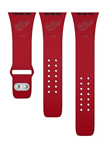 Game Time Detroit Red Wings Debossed Silicone Band Compatible with The Apple Watch - 42mm/44mm
