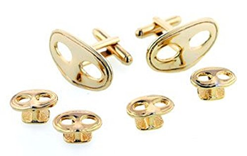 JJ Weston Mardi Gras Mask Tuxedo Cufflinks and Shirt Studs. Made in the USA. by JJ Weston