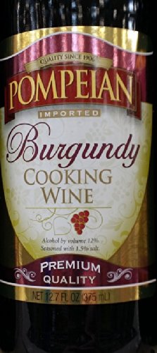 Pompeian Cooking Wine 12.7 Oz (Pack of 3) (Burgundy)