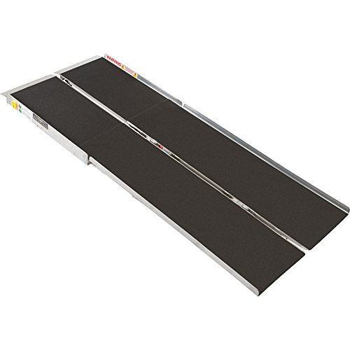 "96"" Portable Folding Aluminum Wheelchair & Scooter Ramp"