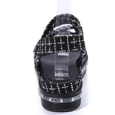 LFNLYX LED's zapatos sandalias mujer sandalias de tela plana caída casual tacón negro LED Otros Black