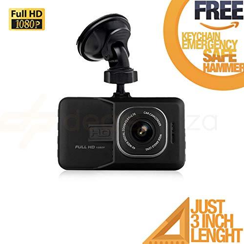 Deals Plaza Dash CAM Full HD 1080P CAR DVR Camera Video Recorder Monitor 3.0 INCH / 170 Degree Wide Angle in CAR/Night Vision/G-Sensor/WDR / Loop Recording➕ (F R E E) Emergency Safe Hammer