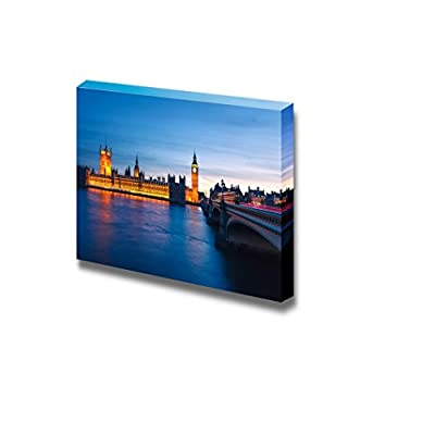 Big Ben and Houses of Parliament at Night London UK Wall Decor, Quality Creation, Grand Visual