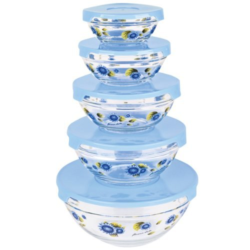 Glass Bowls with Lids ()