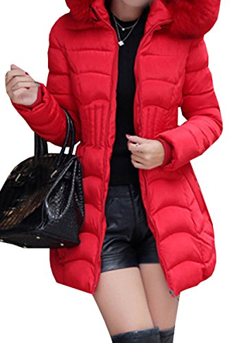 Slim Coat Calda Long Giacca Outwear Red Down Invernale Women Blackmyth Parka IqP6wOgEE