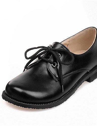 Tacón Oxfords Plano Comfort Mujer Semicuero Zq Hug De Negro Uk8 Eu42 Punta Cn43 us10 7 Eu37 us6 5 Blanco Exterior 5 Casual White Bermellón Uk8 5 Uk4 5 Redonda Cn37 5 Zapatos White YqtwXXIz