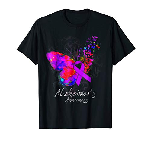 - ALZHEIMER'S AWARENESS - butterfly ribbon T-Shirt