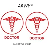 ARWY® car Stickers Doctor Logo car Sticker for Window,Hood,Bumper car Stickers Colour red Size 14.5X15.5 cm